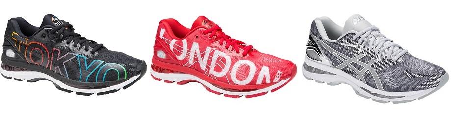 Big City. Специальный дизайн кроссовок Nimbus 20 с нанесением названий пяти  городов, где проводятся городские марафоны, которые поддерживает компания  Asics. 907a951348d