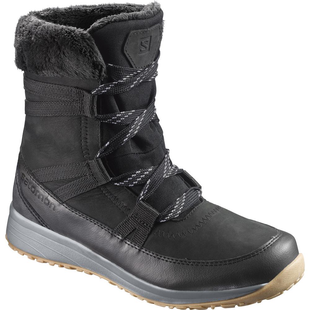 Купить Ботинки городские (высокие) SALOMON 2017-18 HEIKA LTR CS WP Phantom/Black/Alloy Зимняя обувь 1350844