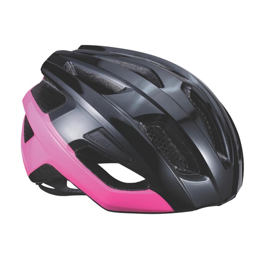 Купить Велошлем BBB 2018 Kite черный блестящий/розовый, Шлемы велосипедные, 1298118