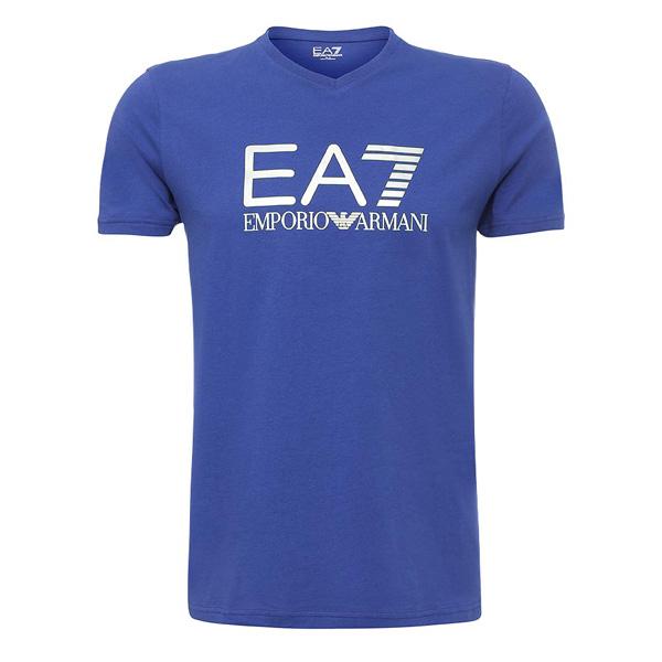 Купить Футболка для активного отдыха EA7 Emporio Armani 2016 MANS KNIT JERSEY BLU INK Одежда туристическая 1245096