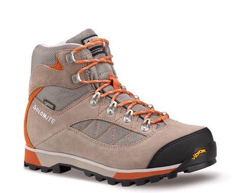 Купить Ботинки для треккинга (высокие) Dolomite 2017 Zernez Gtx Wmn Beaver Brown/Turmeric Orange Треккинговая обувь 1328388