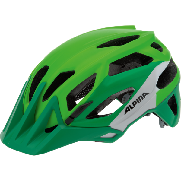 Купить Летний шлем Alpina Enduro Garbanzo green-silver-white, Шлемы велосипедные, 1179845