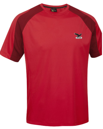 Футболка для активного отдыха Salewa PARTNER PROGRAM MEN *SPORTY B. DRY M S/S TEE red/1700
