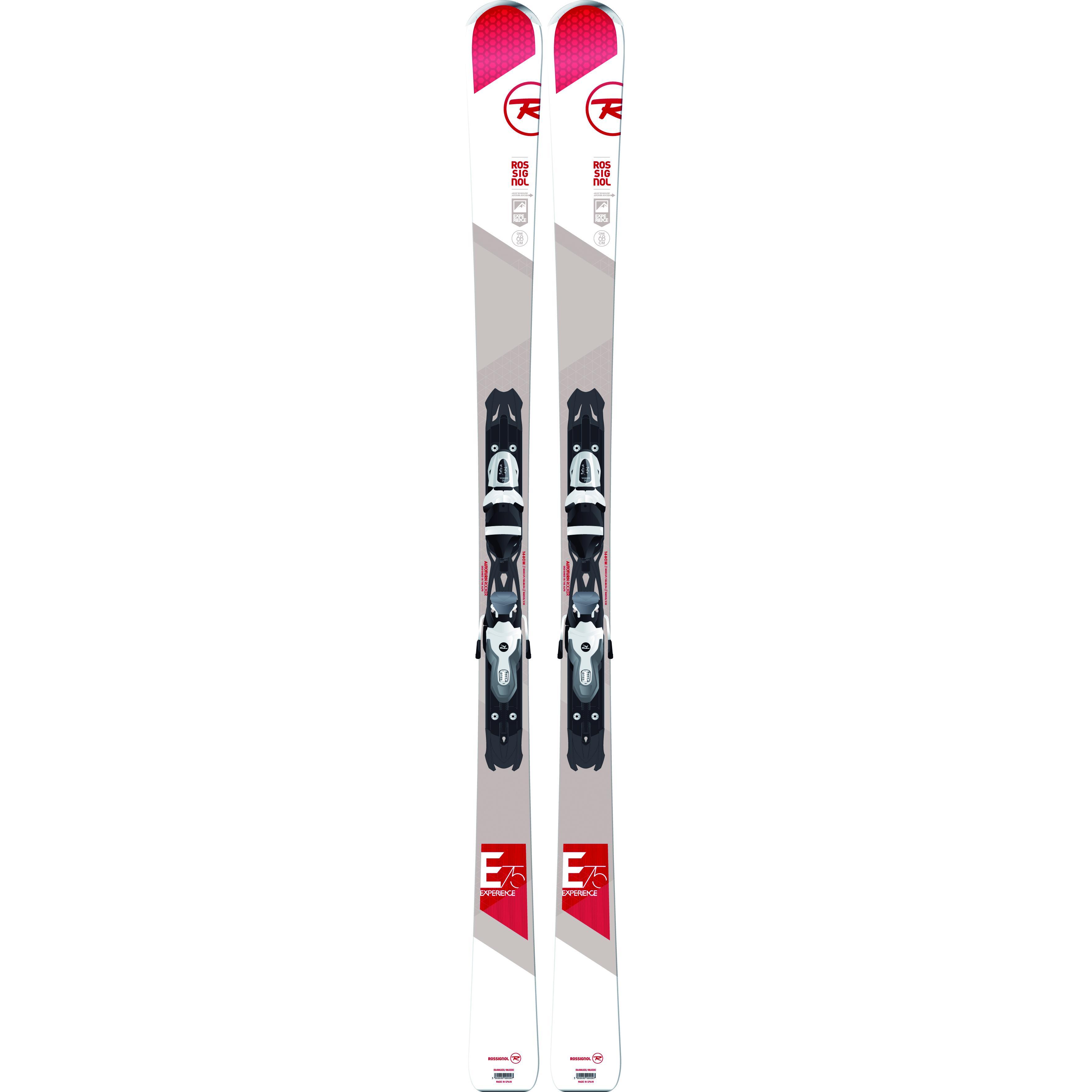 Купить Горные лыжи с креплениями ROSSIGNOL 2014-15 ALL MOUNTAIN EXPERIENCE 75 XELIUM+XELIUM 100 B83 BLACK WHITE, лыжи, 1139996
