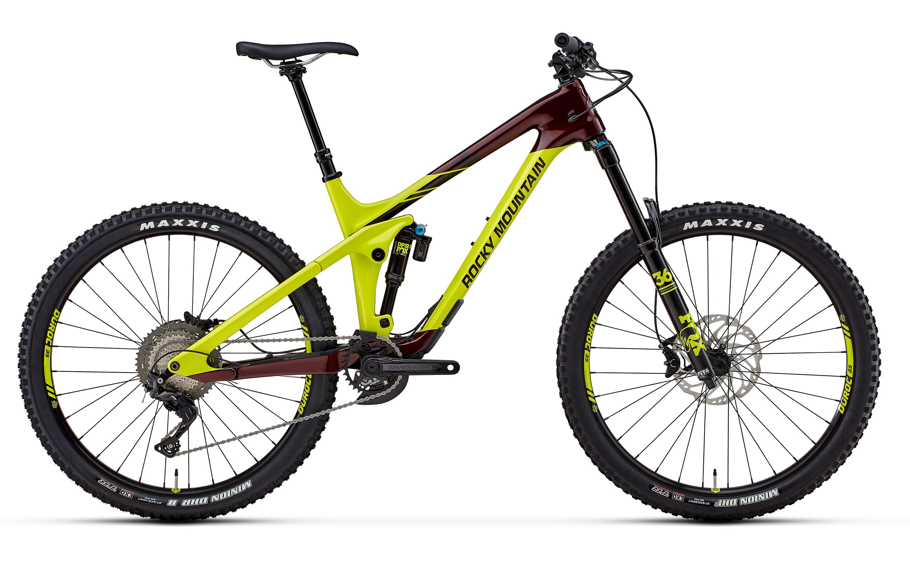 Велосипед Rocky Mountain Slayer Carbon 50 2018 Red/green