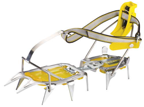 Купить Кошки Salewa Crampons AGUILLE 2.0 STEP-IN ANTIBOOT CRAMPON STEEL/YELLOW альпинистские 650532