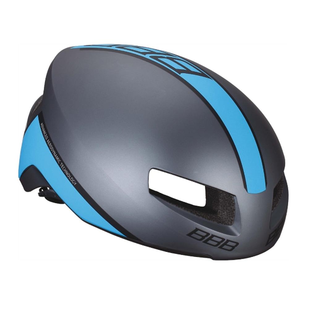 Купить Велошлем BBB 2018 Tithon серый матовый/синий, Шлемы велосипедные, 1298109