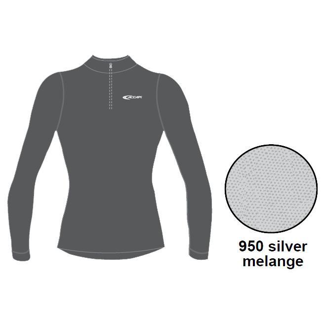 Футболка С Длинным Рукавом Accapi Tecnosoft Plus Long Sl.t-Shirt 1/2 Zip Lady (Silver) Серый