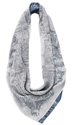 Шарф BUFF URBAN BUFF Studio OXID STONEWASHED BLUE