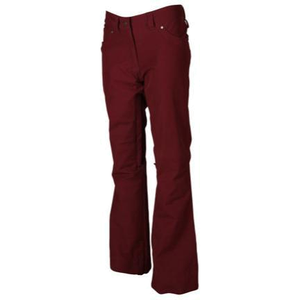 Брюки сноубордические POWDER ROOM 2013-14 SNOWBOARD PANTS FAB 5 POCKET JEAN PANT  - SLIM FIT Wine - Canvas