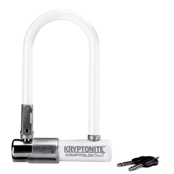 Замок Велосипедный Kryptonite U-Locks Kryptolok Mini-7 W/ Flexframe-U Bracket (Color-White)