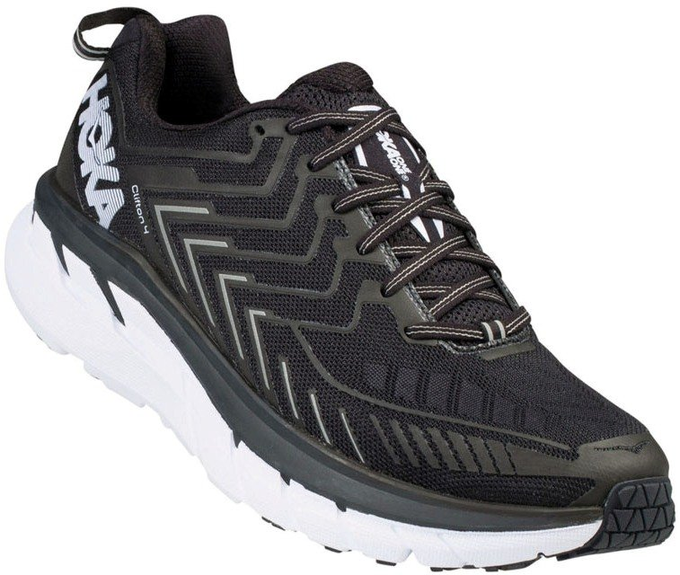 Купить Беговые кроссовки Hoka 2018 M CLIFTON 4 BLACK/WHITE, Обувь, 1410707