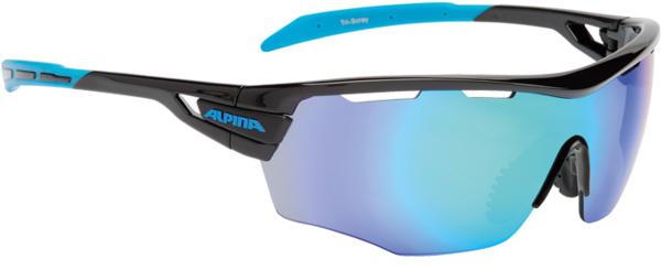 Купить Очки солнцезащитные Alpina PERFORMANCE TRI-SCRAY SHIELD black-cyan/blue mirror S3 / clear S0 orange S2, солнцезащитные, 1131714