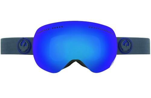 Купить Очки горнолыжные DRAGON 2014-15 APX Carbon/DkSmokeBlue+YwBluIo 1134826