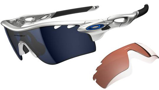 Очки солнцезащитные Oakley Radarlock Path Silver w/Ice Iridium