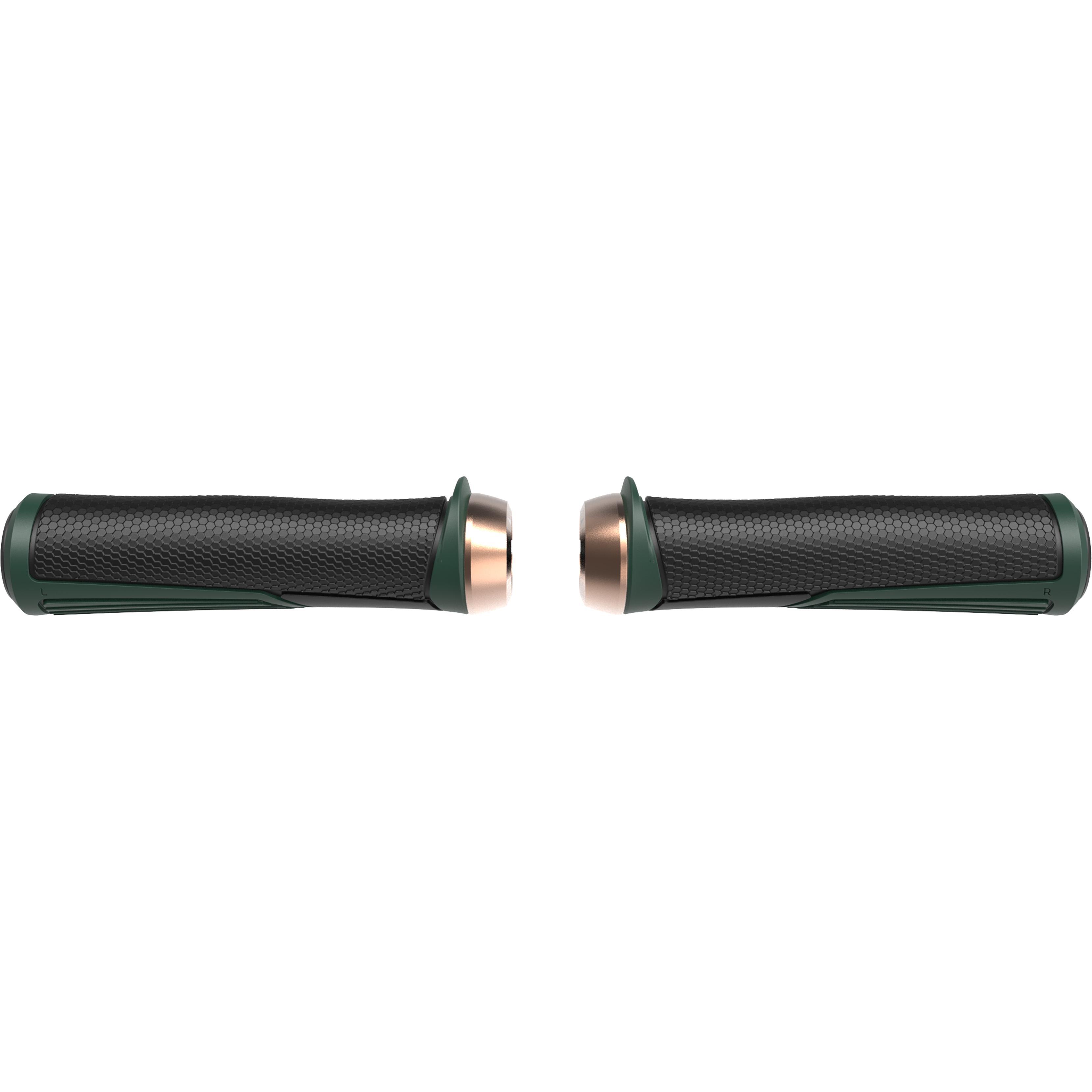 Купить Грипсы Bbb Cobra 142Mm / Moss Green / Lockring Copper Зелёный, унисекс, Рулевое управление