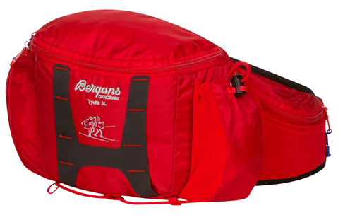 Сумка поясная Bergans Tydal Hip Pack 3L Red/Cobalt Blue