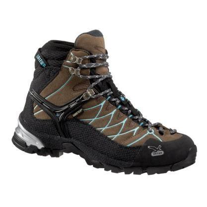 Купить Ботинки для треккинга (высокие) Salewa Hike Approach WS ALPTRAINER MID GTX laguna-bright sea Треккинговая обувь 896814