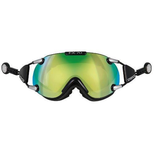 Купить Очки горнолыжные Casco FX-70L, Carbonic* (Magnet Link) black-green* 844736