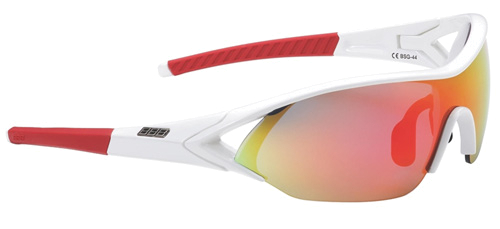 Очки солнцезащитные BBB Impact, red temple  PC Smoke red  MLC lens glossy white (BSG-44)