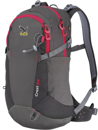 Купить Рюкзак Salewa Hiking Crest 24 carbon/red Рюкзаки универсальные 1073706