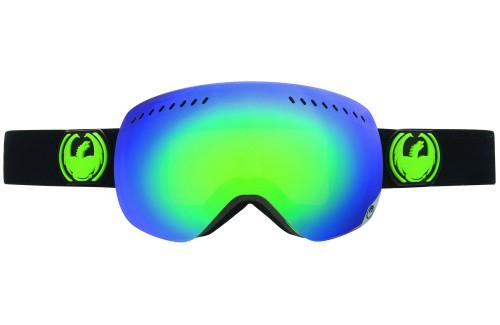 Купить Очки горнолыжные DRAGON 2014-15 APXS Jet/GreenIon+YllwBlueIn, горнолыжные, 1134835