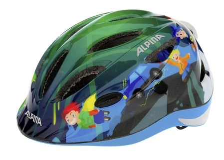 Летний шлем Alpina JUNIOR / KIDS Gamma 2.0 Flash superhero Шлемы велосипедные 1180137  - купить со скидкой