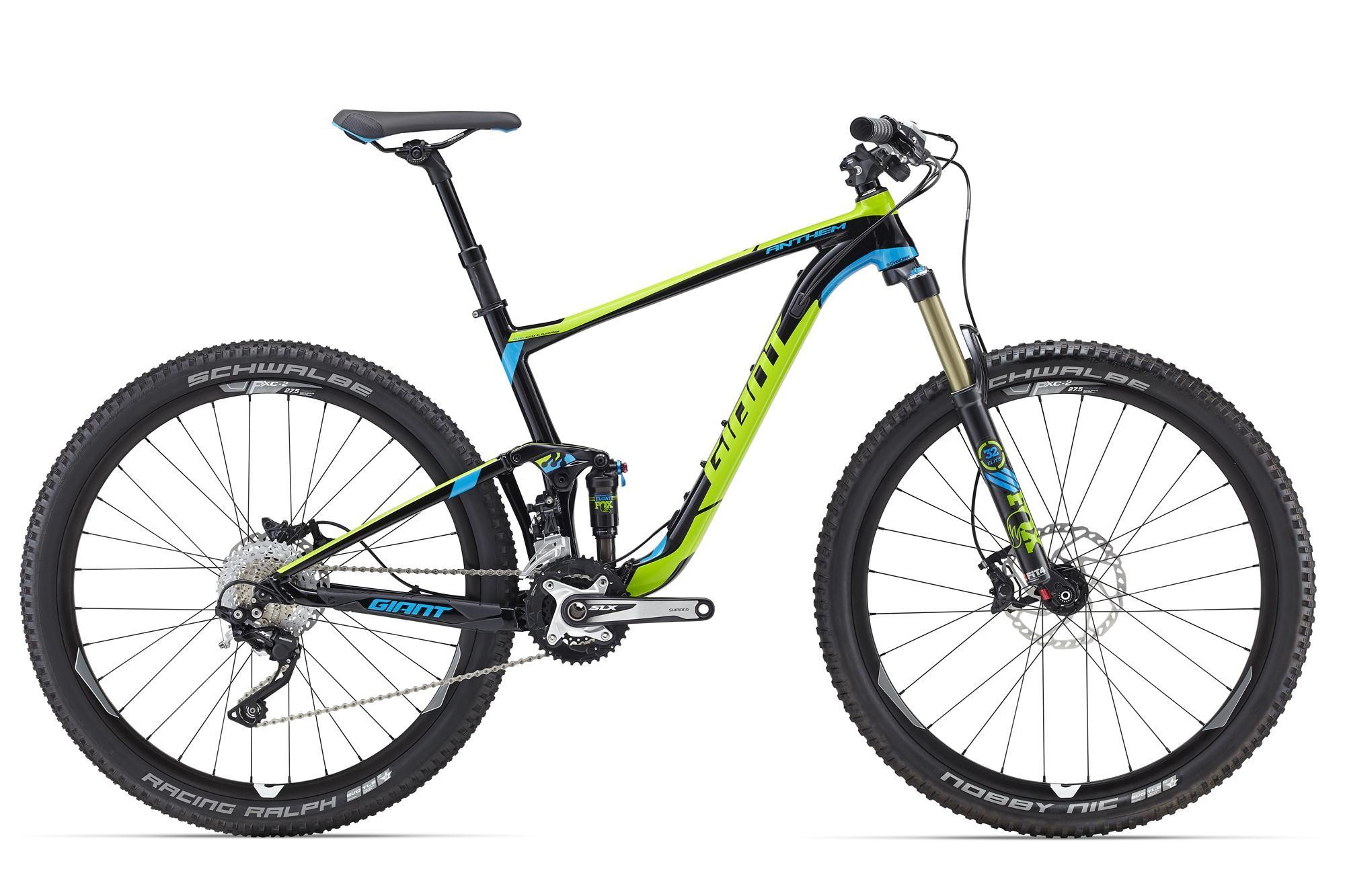 Купить Велосипед Giant Anthem SX 27.5 2 2016 Black/Green / Черный Зеленый, Двухподвесы, 1262663