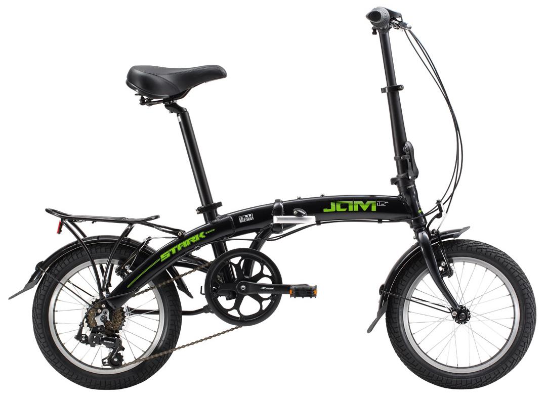 Купить Велосипед Stark Jam 16.1 V 2017 Черно-Зеленый, Складные велосипеды, 1317849