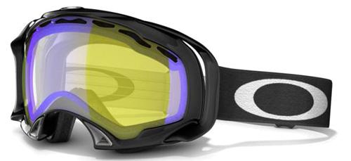 Купить Очки горнолыжные Oakley A-Frame Snow Jet Black HI Amber Polarized* 855728