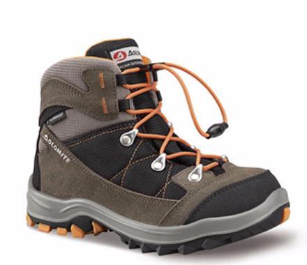 Купить Ботинки для хайкинга (высокие) Dolomite 2017-18 Davos Kid Wp Bark/Black Треккинговая обувь 1328395