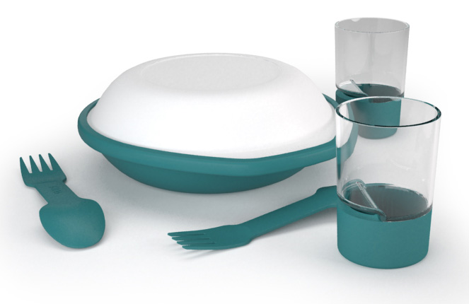 Набор Посуды Silva 2016-17 Dine Duo Kit Turquoise от КАНТ