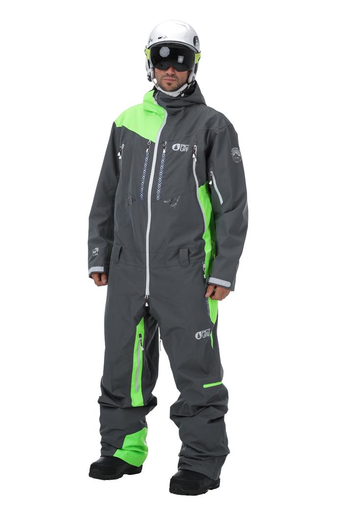 Купить Комбинезон сноубордический Picture Organic 2016-17 STRATOS SUIT A Black/White Одежда сноубордическая 1306646