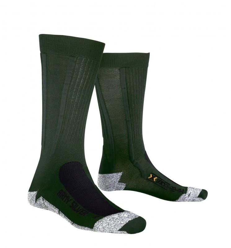 Купить Носки X-Bionic 2016-17 X-SOCKS ARMY SILVER E122 / Зеленый 1277631