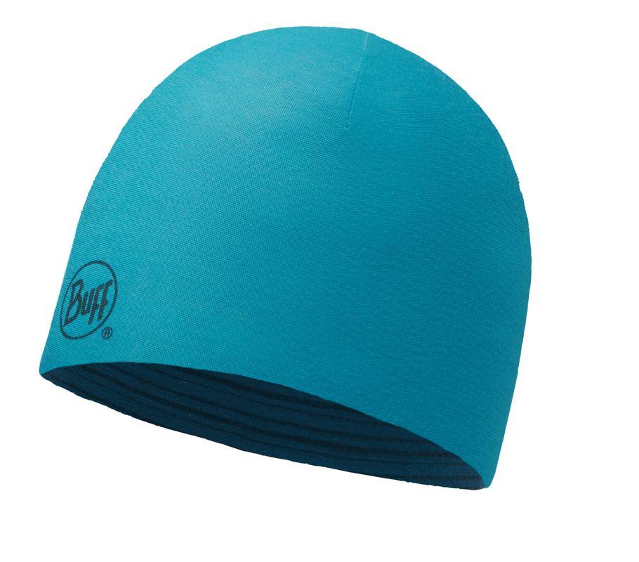 Купить Шапка BUFF MERINO WOOL REVERSIBLE HAT SOLID BLUE CAPRI-BLUE CAPRI-Standard Банданы и шарфы Buff ® 1228009