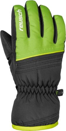 Купить Перчатки Горные Reusch 2017-18 Alan Junior Black / Neon Green, унисекс, Перчатки, варежки