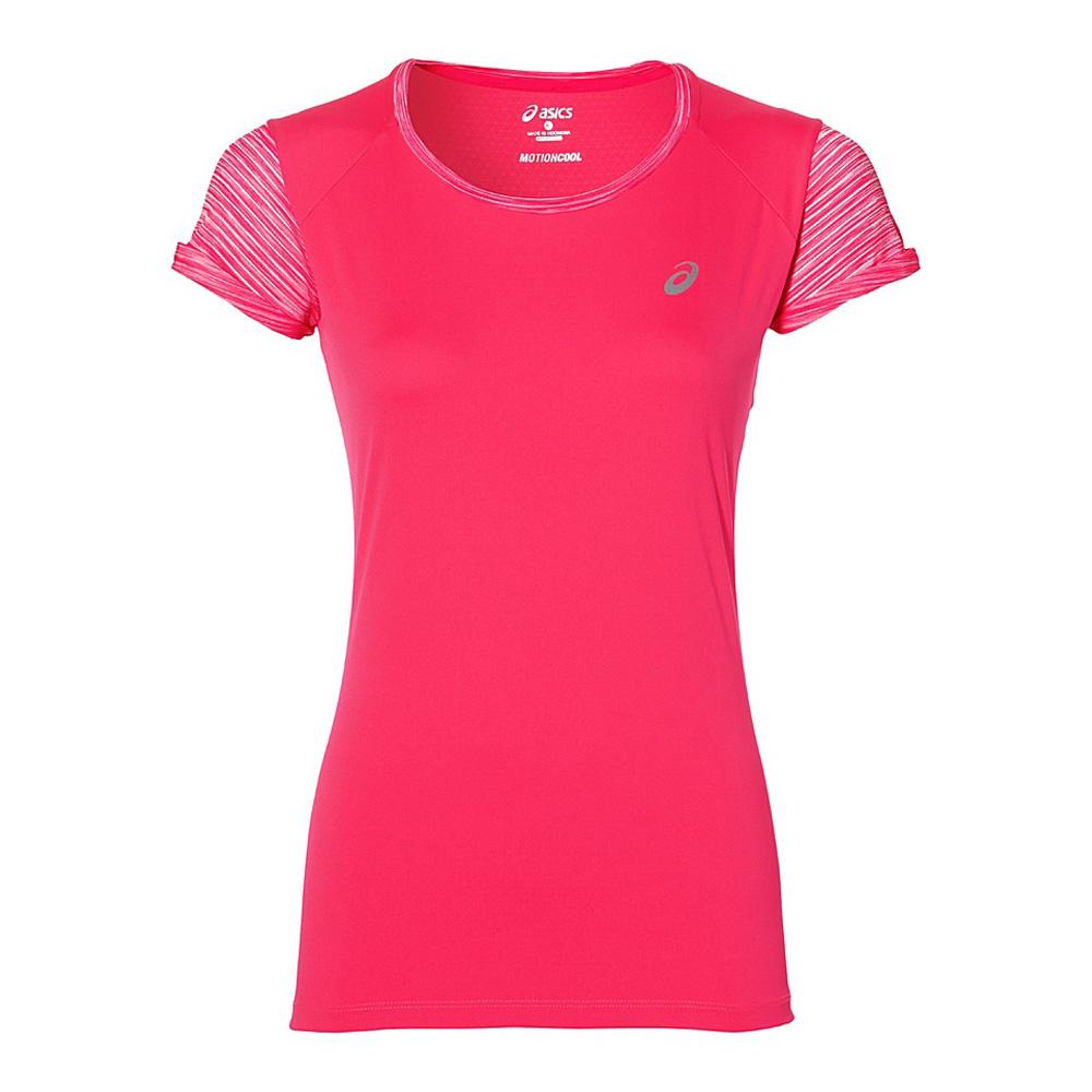 Купить Футболка Беговая Asics 2017 Fuzex Ss Top Розовый, женский, Одежда для бега и фитнеса