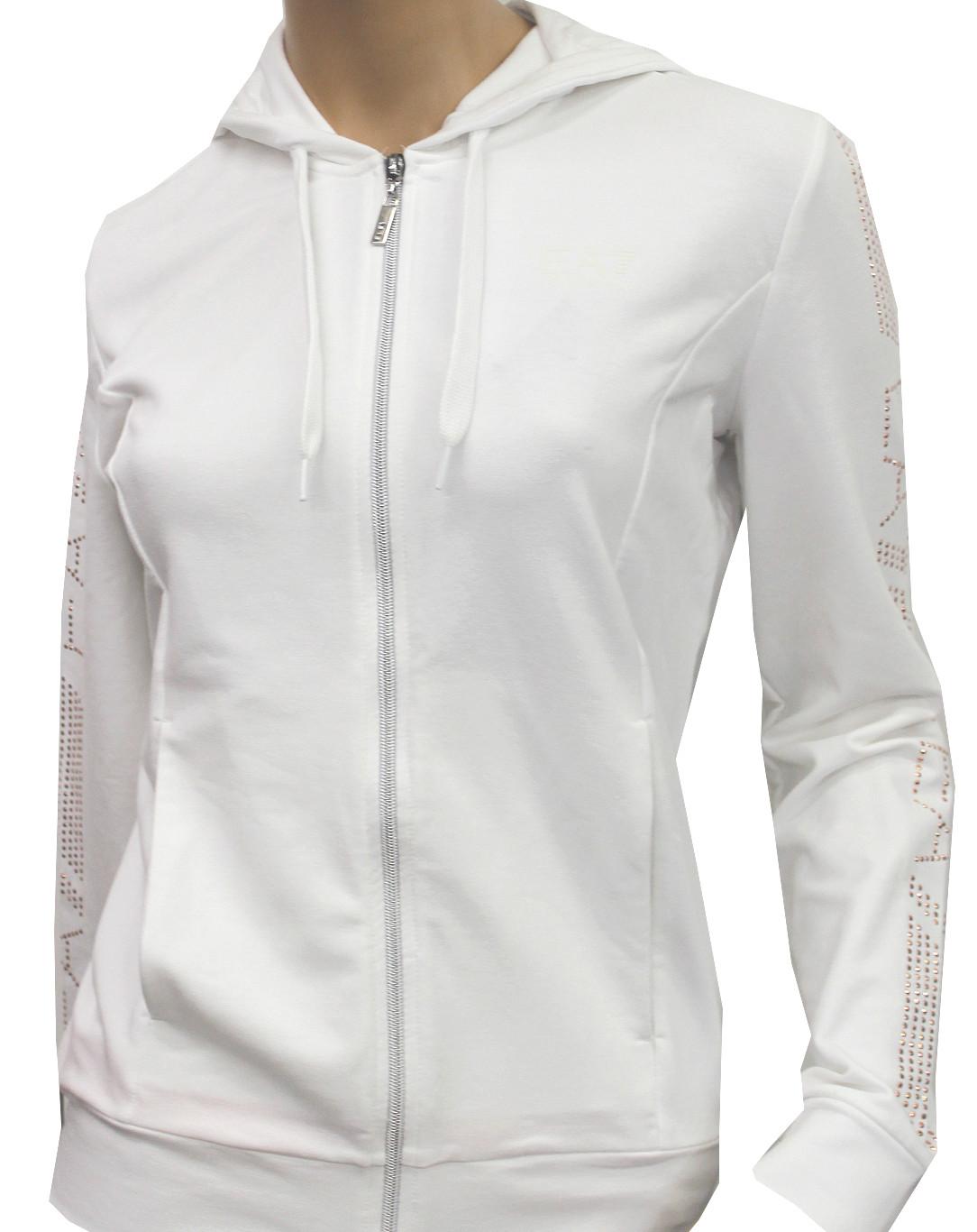 Купить Толстовка для активного отдыха EA7 Emporio Armani 2016 WOMANS KNIT SWEATSH BIANCO Одежда туристическая 1244966