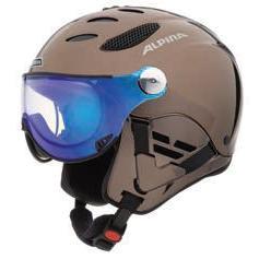 Купить Зимний Шлем Alpina VISOR JUMP JV EXCLUSIVE brown chrome Шлемы для горных лыж/сноубордов 1130987