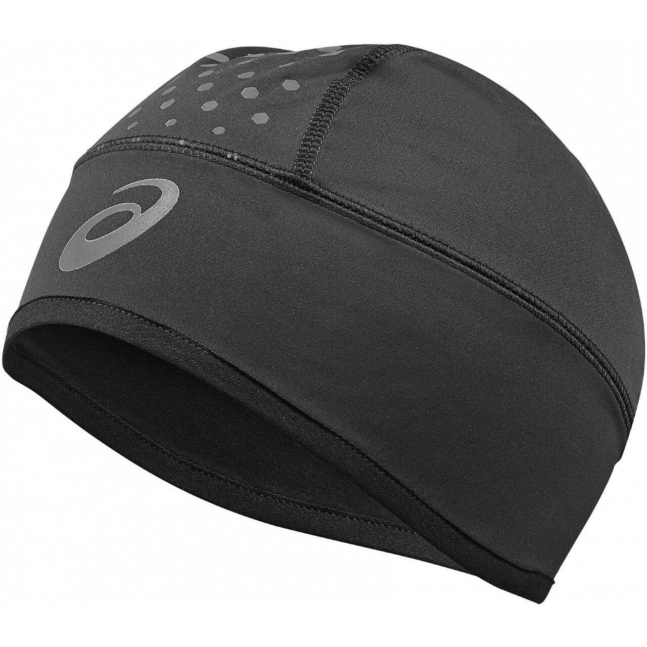 женская шапка asics, черная