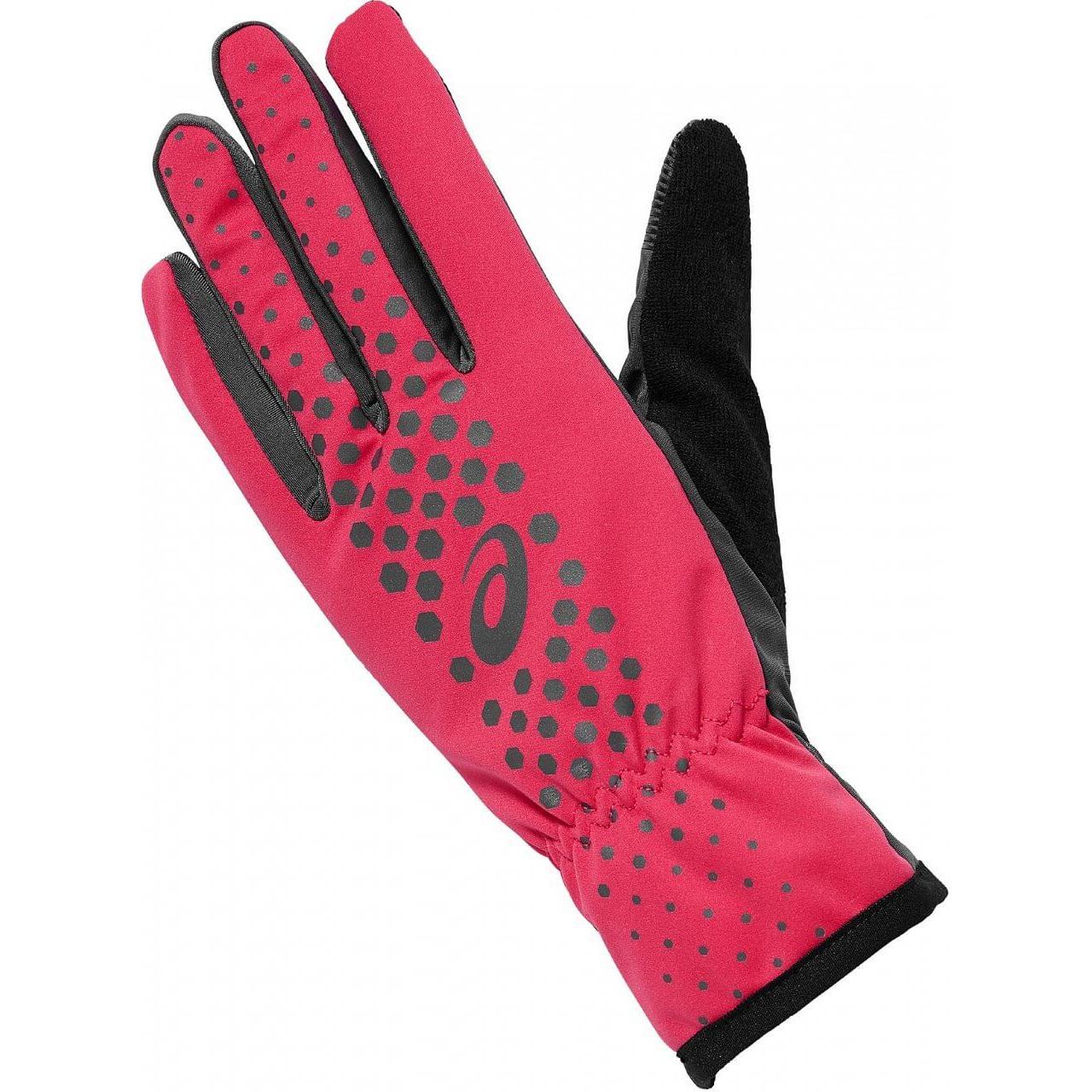 женские перчатки asics, розовые