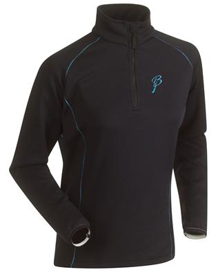 Купить Флис беговой Bjorn Daehlie Half Zip ISOTHERM Women Black/Hawaiian Ocean (черный/голубой) Одежда лыжная 858958