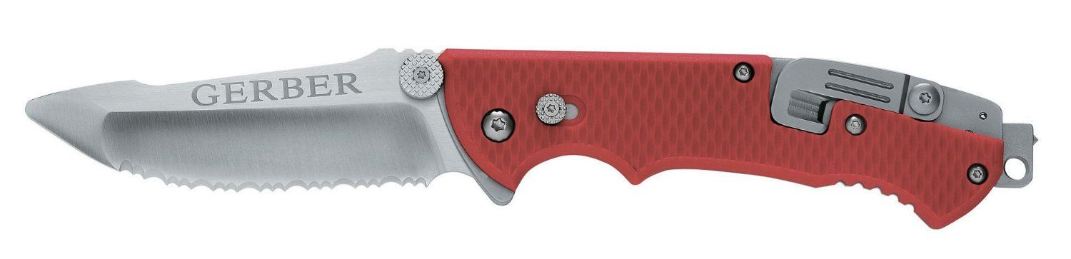 Мультиинструмент Gerber Tactical Hinderer Rescue - Serrated, Sheath - Box