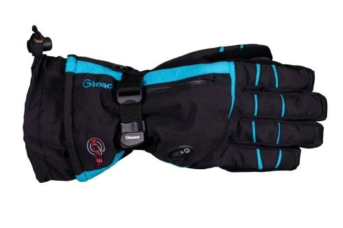 Купить Перчатки горные GLANCE Fusion (black/turquise) черный, Перчатки, варежки, 723350