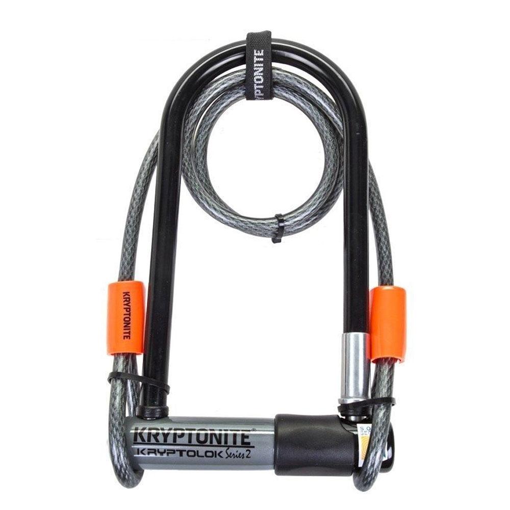 Замок Велосипедный Kryptonite U-Locks Kryptolok Standard W/ Flex Cable & Flexframe Bracket