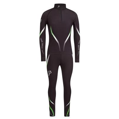 Купить Комплект беговой Bjorn Daehlie Racesuit VICTORIAN 2-piece Black/Green Gecko (черный/т.зеленый) Одежда лыжная 858664