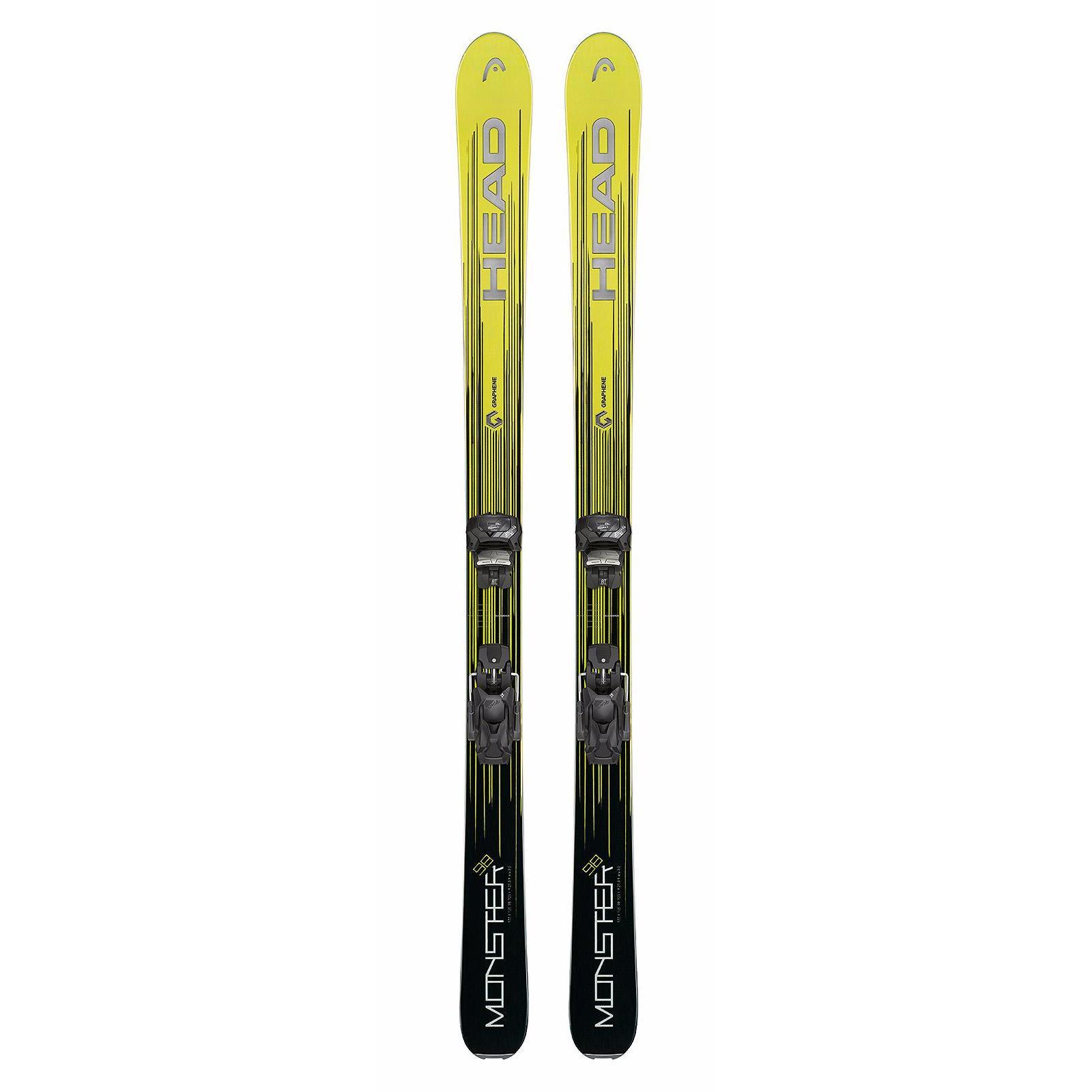 Купить Горные лыжи с креплениями HEAD 2017-18 Monster SLR2 (117-157)+SLR 7.5 neon yellow/black, лыжи, 1365243