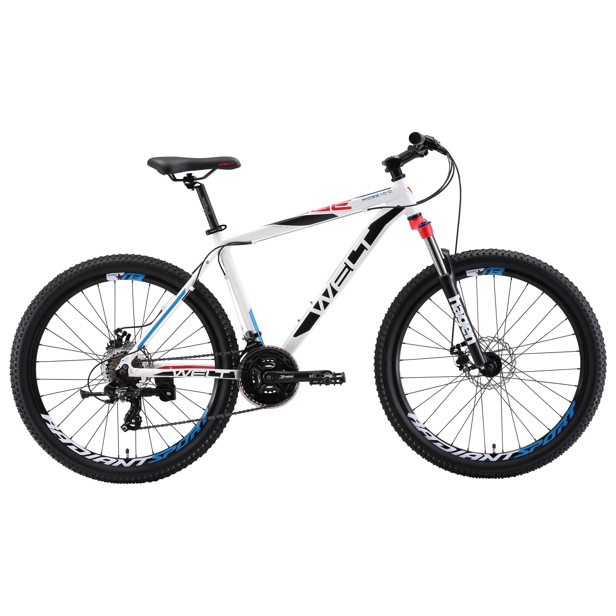 Велосипед Welt 2018 Ridge 1.0 D Matt White/black/red