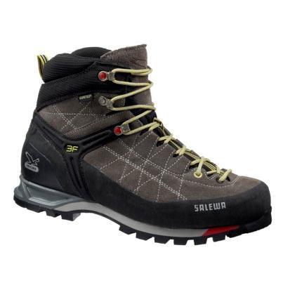 Купить Ботинки для альпинизма Salewa Alpine Approach MS MTN TRAINER MID GTX charcoal-limeade, Альпинистская обувь, 896455