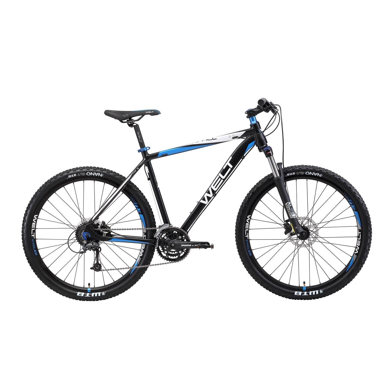 Велосипед Welt 2018 Rockfall 3.0 Matt Black/blue